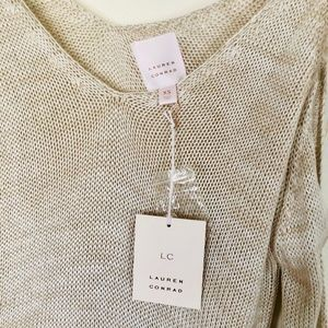 LC Lauren Conrad Sweaters - Lauren Conrad Cold Shoulder Bell Sleeve Sweater